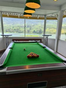 A billiards table at Hatton Summer House