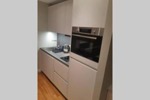 A kitchen or kitchenette at Riverside Apartment - Serene