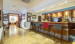 The lobby or reception area at Hotel MR Costa Blanca