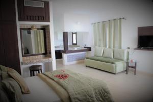 منطقة جلوس في Residence Ain Meriem