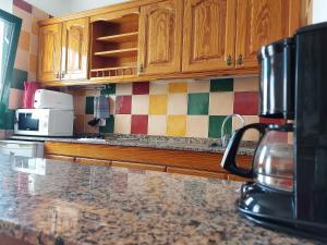 A kitchen or kitchenette at Apartamentos Acuario Sol