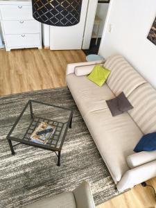 Ein Sitzbereich in der Unterkunft City Apartment Leipzig