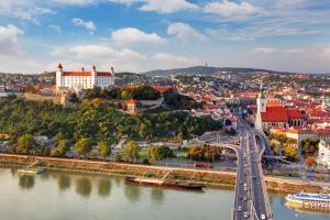 Pohľad z vtáčej perspektívy na ubytovanie LOFT Hotel Bratislava