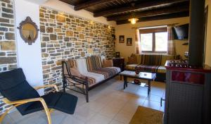 A seating area at Villa Valia- Relaxation and Cretan hospitality