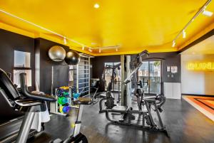 The fitness center and/or fitness facilities at INNSIDE by Meliá Sao Paulo Itaim