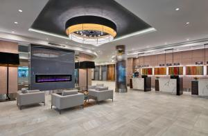 The lobby or reception area at Delta Hotels by Marriott Edmonton Centre Suites