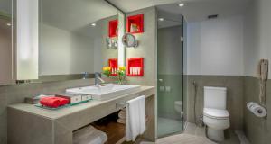 Um banheiro em InterContinental São Paulo, an IHG Hotel