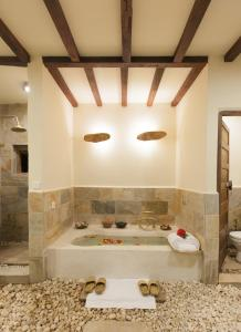 A bathroom at Dwarika's Resort - Dhulikhel