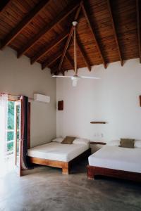 Ein Bett oder Betten in einem Zimmer der Unterkunft Residencia El Balatà
