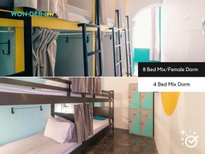 A bunk bed or bunk beds in a room at Wonderloft Hostel