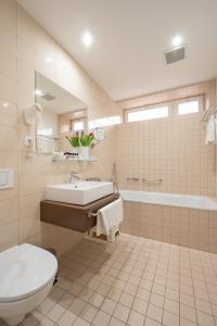 Koupelna v ubytování Hotel Vila Viola