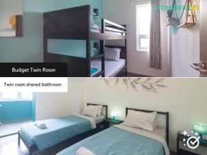 A bed or beds in a room at Wonderloft Hostel