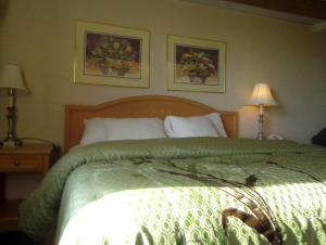 A bed or beds in a room at Pleasant Stay Inn & Suites