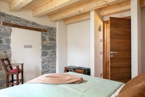 A bed or beds in a room at La casa!