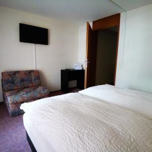 Ein Bett oder Betten in einem Zimmer der Unterkunft Hotel Crystal