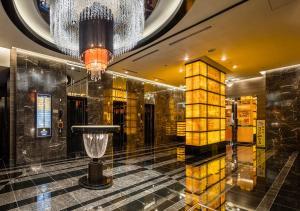 De lobby of receptie bij APA Hotel Asakusa Tawaramachi Ekimae