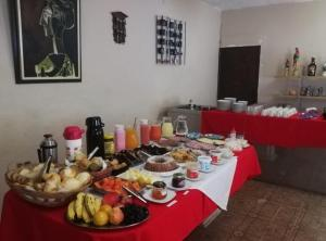 Breakfast options available to guests at Pousada Bem Querer
