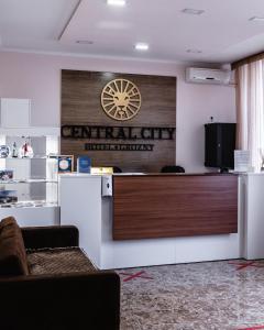 Лобби или стойка регистрации в Central City Hotel Grozny