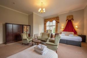 A seating area at Broome Park Hotel
