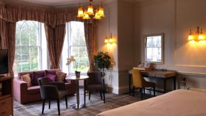 A seating area at Arnos Manor Hotel