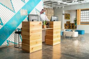 A cozinha ou cozinha compacta de Shada Hotel Salama