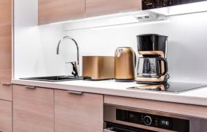 Majoituspaikan Trendy Homes Oulu Marski Apartments keittiö tai keittotila