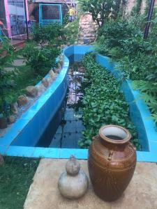 The swimming pool at or close to daklak homestay
