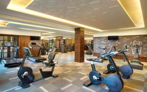 The fitness center and/or fitness facilities at JW Marriott Mauritius Resort