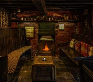 A seating area at The Leagate Inn