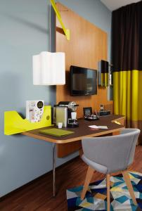 A television and/or entertainment center at 25hours Hotel Zürich West