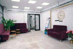 The lobby or reception area at Centralnaya Hotel