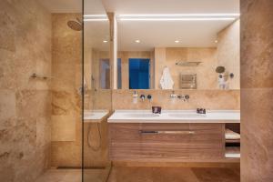 Ein Badezimmer in der Unterkunft Hotel CUBE Prague