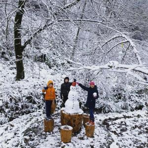 Xanəgah-dakı Eviniz durante o inverno
