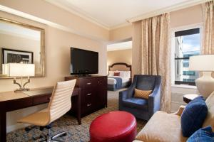 A television and/or entertainment center at Capital Hilton