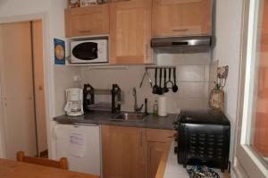A kitchen or kitchenette at 2 pièces Les Bleuets 16 Station Thollon les Mémises