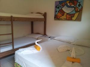A bunk bed or bunk beds in a room at Pousada Caminho das Estrelas