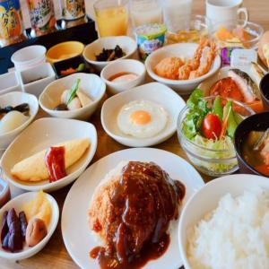 Breakfast options available to guests at Dormy Inn Kitami
