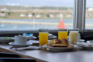 Breakfast options available to guests at Alto Andino Hotel