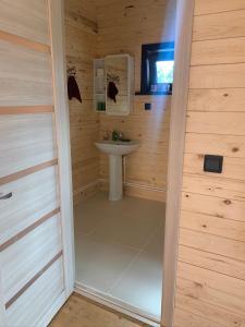 A bathroom at Дома на Байкале в Скандинавском стиле