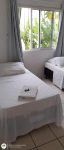 Cama ou camas em um quarto em Hotel Norte Blu