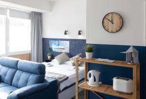Zona de estar de Apartamentos Salbide Zarautz