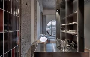 Una cocina o kitchenette en Hotel Ottilia by Brøchner Hotels