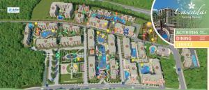Uma vista aérea de Cascadas Family Resort