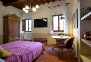 A television and/or entertainment center at D'Ardiglione27 Flat Studio Nuovo New