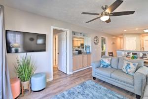 A seating area at Swim, Golf, Play - Beachy River Oaks Condo!