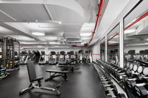 The fitness center and/or fitness facilities at TWA Hotel at JFK Airport