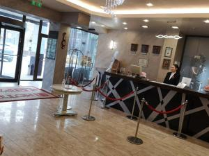 The lobby or reception area at Hotel Leipzig