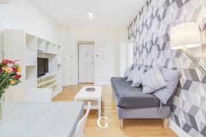 Uma área de estar em Residenza Gonfalone