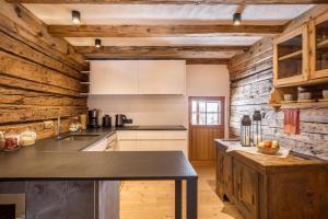 Cucina o angolo cottura di Obereggeralm