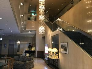 The lobby or reception area at Hotel Rapport Senjukaku